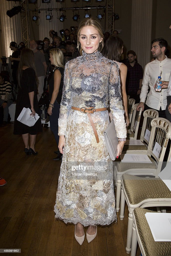 Olivia Palmero attends the Marchesa show during London Fashion Week Spring Summer 2015 at on September 13 2014 in London England