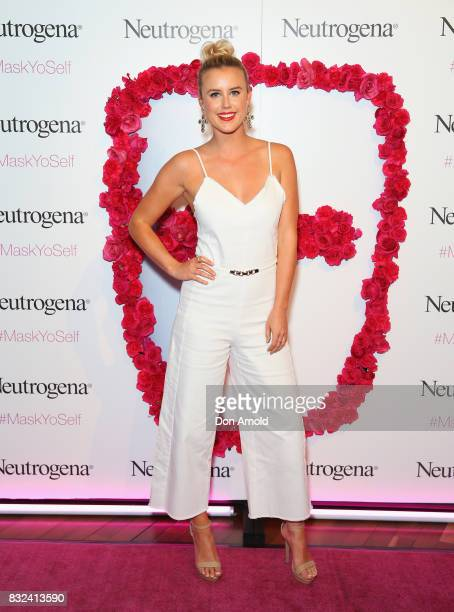 Olivia Phyland attends the Neutrogena Visibly Clear Light Therapy Acne Mask Launch at Museum of Contemporary Art on August 16 2017 in Sydney Australia