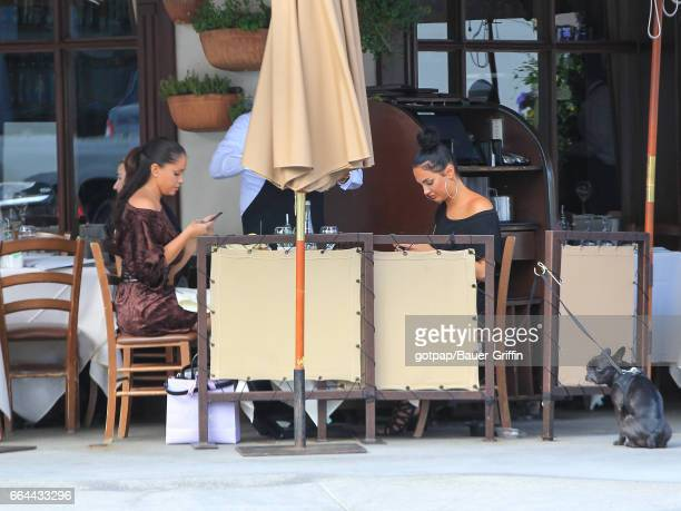 Olivia Pierson and Natalie Halcro are seen on April 03 2017 in Los Angeles California