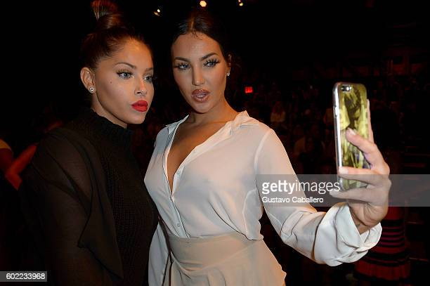 Olivia Pierson and Natalie Halcro attend the Jonathan Simkhai fashion show during New York Fashion Week The Shows at The Arc Skylight at Moynihan...