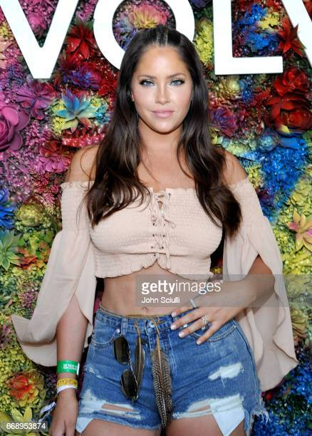Olivia Pierson attends #REVOLVEfestival at Coachella with Moet Chandon on April 15 2017 in La Quinta CA Merv Griffin Estate