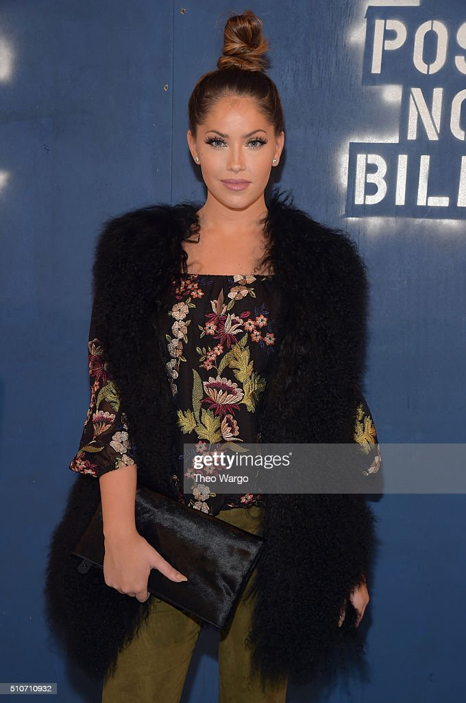 Olivia Pierson attends the Alice + Olivia By Stacey Bendet - Arrivals at The Gallery, Skylight at Clarkson Sq on February 16, 2016 in New York City.