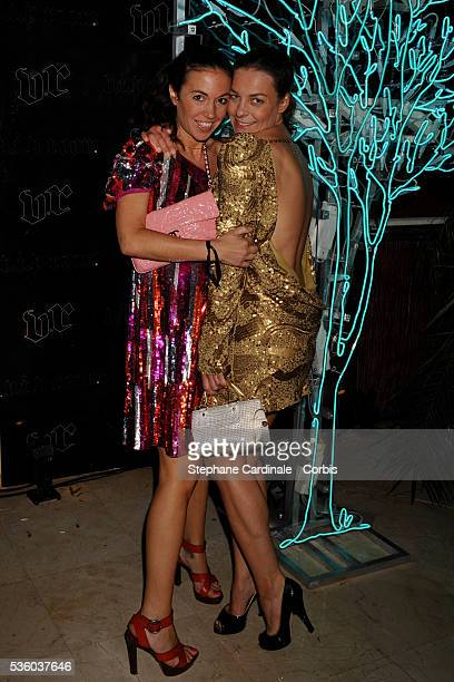 Olivia Provost and Elsa Wolinski at 'Belvedere's Jagger Dagger Party' held at the Palm Beach during the 61st Cannes Film Festival