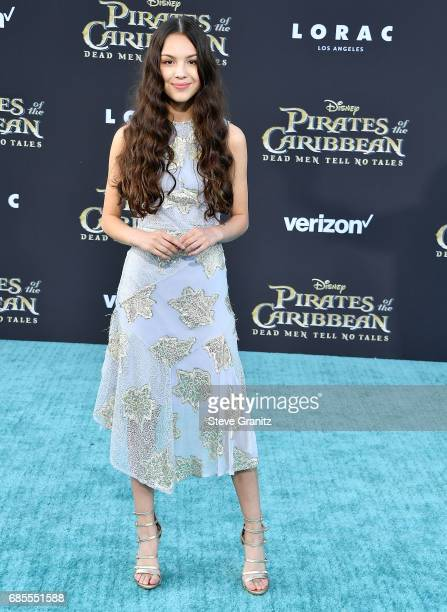 Olivia Rodrigo arrives at the Premiere Of Disney's 'Pirates Of The Caribbean Dead Men Tell No Tales' at Dolby Theatre on May 18 2017 in Hollywood...