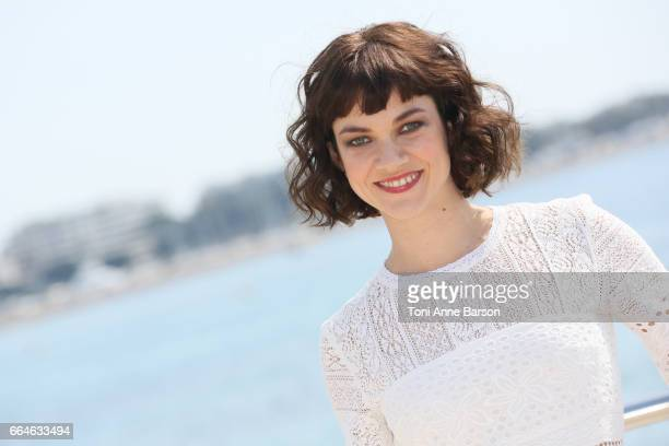 Olivia Ross attends 'Knightfall' photocall during MIPTV 2017 on April 4 2017 in Cannes France