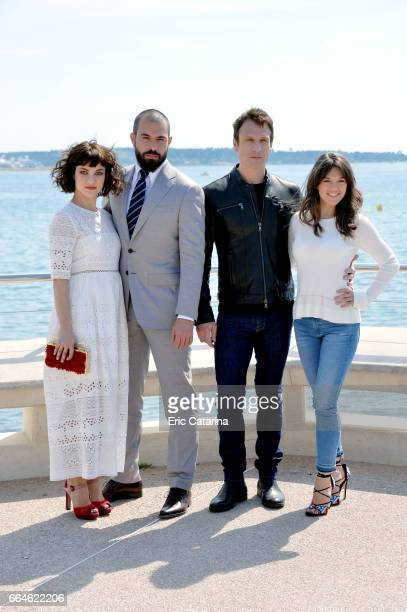 APRIL 04 Olivia RossTom Cullen Simon Merrells and Sabrina Bartlett attend the 'Knightfall' photocal at La Rotonde on April 4 2017 in Cannes France