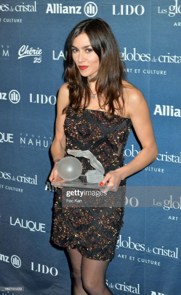 Olivia Ruiz attends the 'Globes de Cristal 2013' Press Room at the Lido on February 4, 2013 in Paris, France.