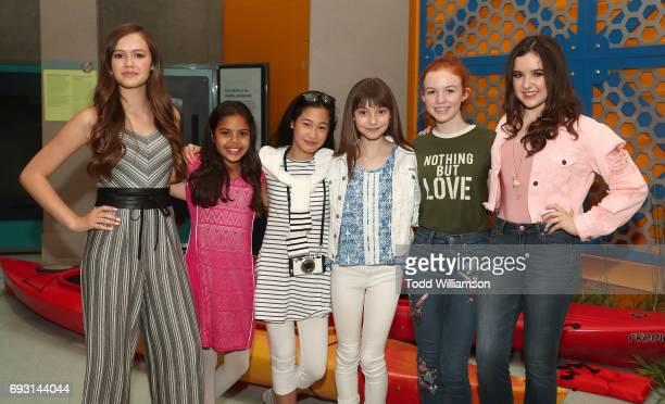 Olivia Sanabia Allison Fernandez Zoe Manarel Lauren Donzis Abby Donnelly and Aubrey Miller attend an 'An American Girl Story Summer Camp Friends For...