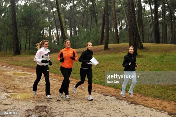 Olivia SANCHEZ / Julie COIN / Mathilde JOHNSSON / Charlotte RODIER Equipe de France feminine Stade de preparation physique Anglet