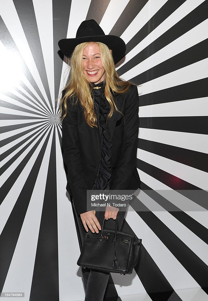Olivia Sandelman attends the celebration of the collaboration between Jimmy Choo and Artist Rob Pruitt at The Fletcher Sinclair Mansion on October 25, 2012 in New York City.