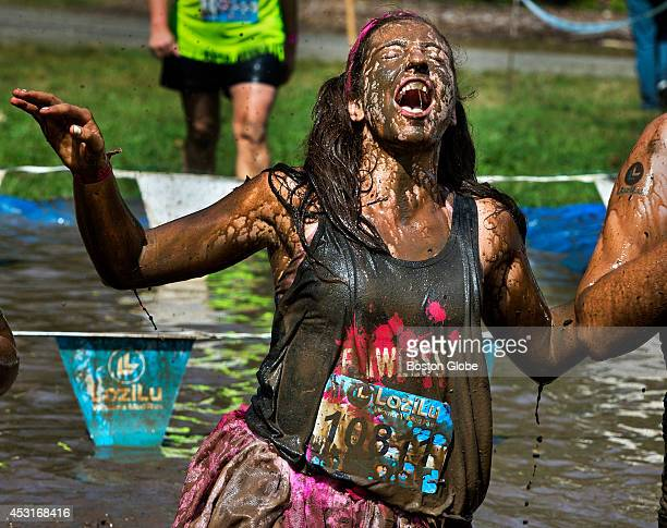 Olivia Sangiovanni at the New England LoziLu Womens Mud Run 2014 held at the Bolton Fairgrounds I did a penquin dive Why not Its a mud bath The mud...