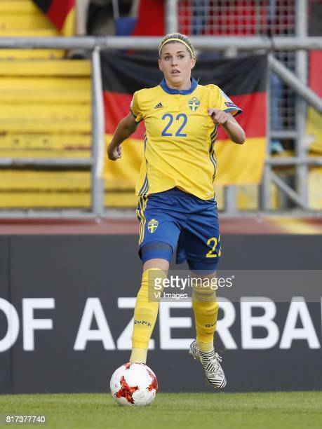 Olivia Schough of Sweden women during the UEFA WEURO 2017 Group B group stage match between Germany and Sweden at the Rat Verlegh stadium on July 17...