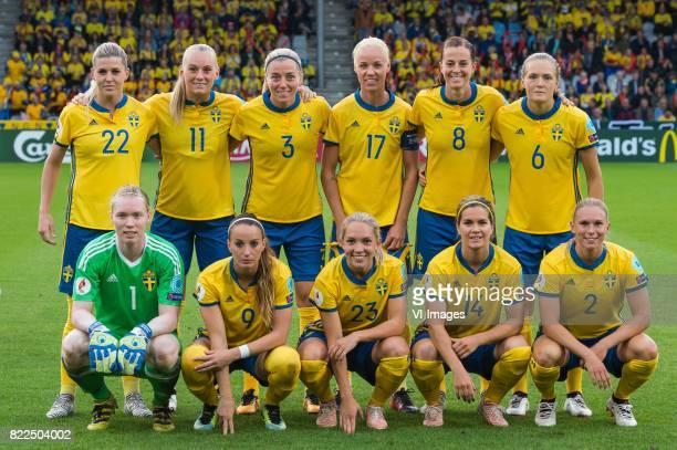 Olivia Schough of Sweden women Stina Blackstenius of Sweden women Linda Sembrant of Sweden women Caroline Seger of Sweden women Lotta Schelin of...