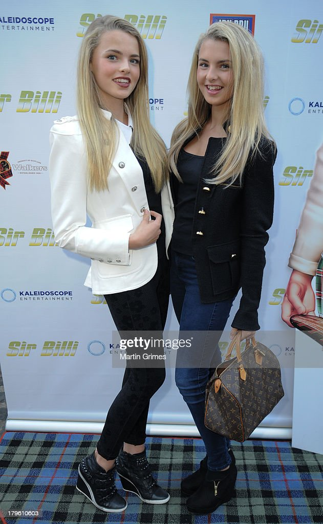 Olivia Sim and Devenee Sim attend the 'Sir Billi' press screening at The Grosvenor Cinema on September 5, 2013 in Glasgow, Scotland.