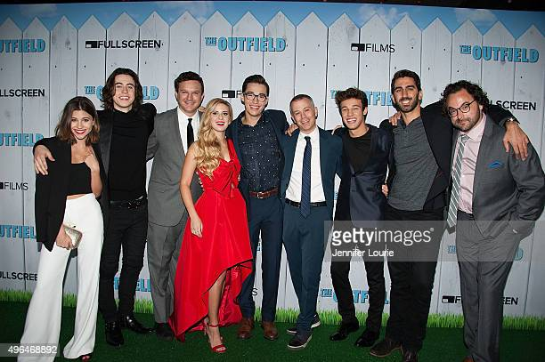 Olivia Stuck Nash Grier Gil Kruger Caroline Sunshine Joey Bragg Michael Goldfine Cameron Dallas George Strompolos and Eli Gonda arrive at the...