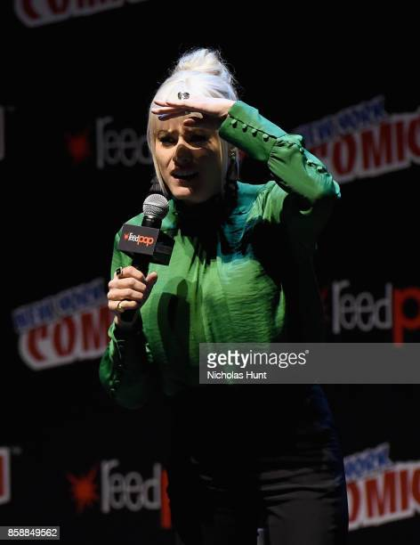 Olivia Taylor Dudley attend The Magicians Panel during 2017 New York Comic Con Day 3 on October 7 2017 in New York City