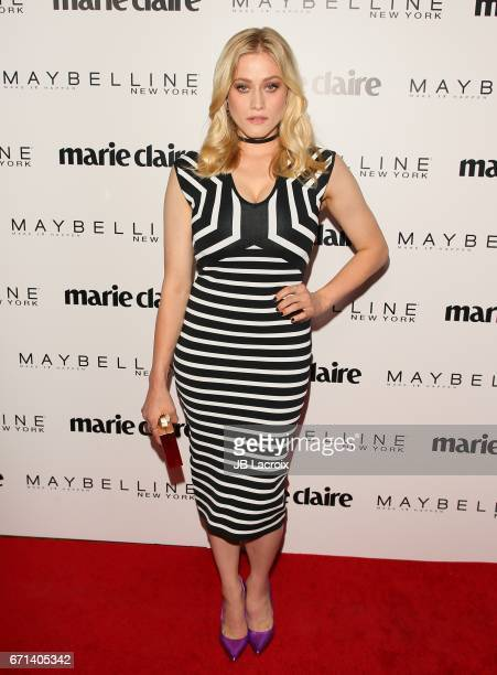 Olivia Taylor Dudley attends Marie Claire's 'Fresh Faces' celebration with an event sponsored by Maybelline at Doheny Room on April 21 2017 in West...