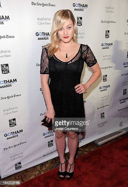 Olivia Taylor Dudley attends the IFP's 21st Annual Gotham Independent Film Awards at Cipriani Wall Street on November 28 2011 in New York City