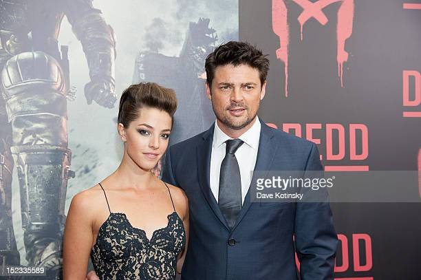 Olivia Thirlby and Karl Urban attend the 'DREDD 3D' New York Screening at Regal Union Square on September 18 2012 in New York City