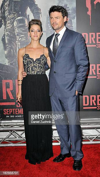 Olivia Thirlby and Karl Urban attend the 'DREDD 3D' screening at Regal Union Square on September 18 2012 in New York City