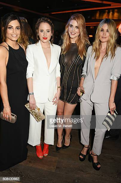 Olivia Wayne Rosie Fortescue Ashley James and Kara Rose Marshall attend the InStyle EE Rising Star party ahead of the EE BAFTA Awards at 100 Wardour...