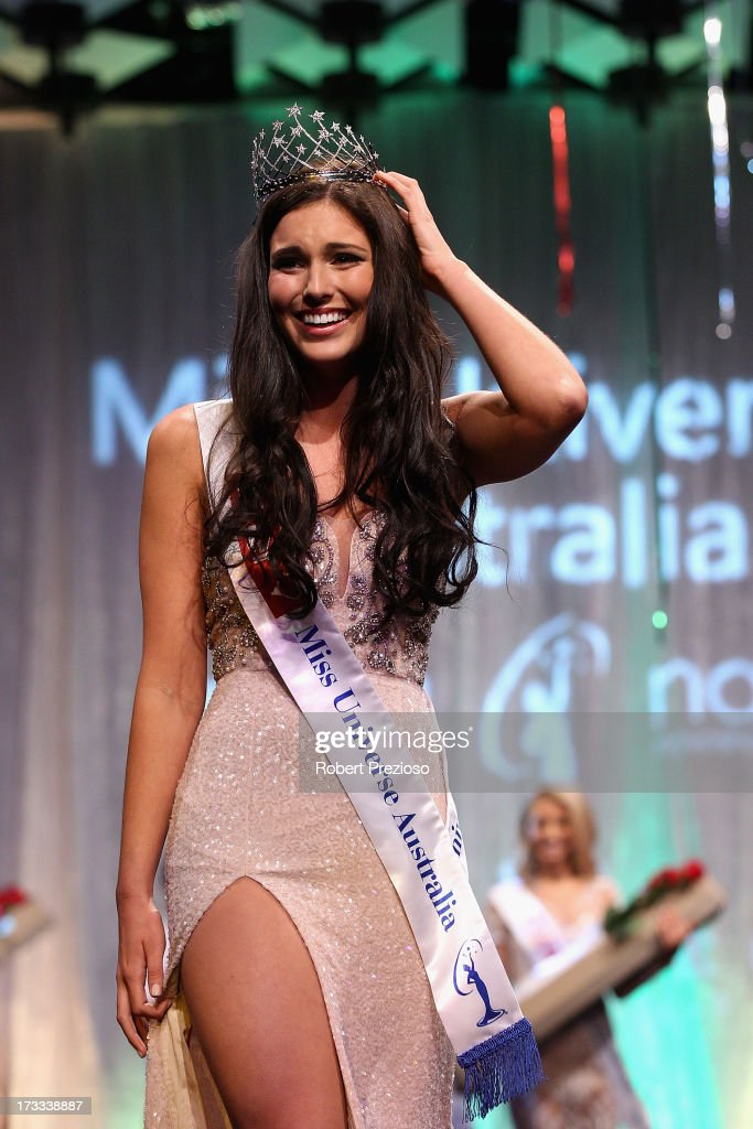Olivia Wells of Victoria is crowned as the winner at the 2013 Miss Universe Australia Pageant on July 12, 2013 in Melbourne, Australia.