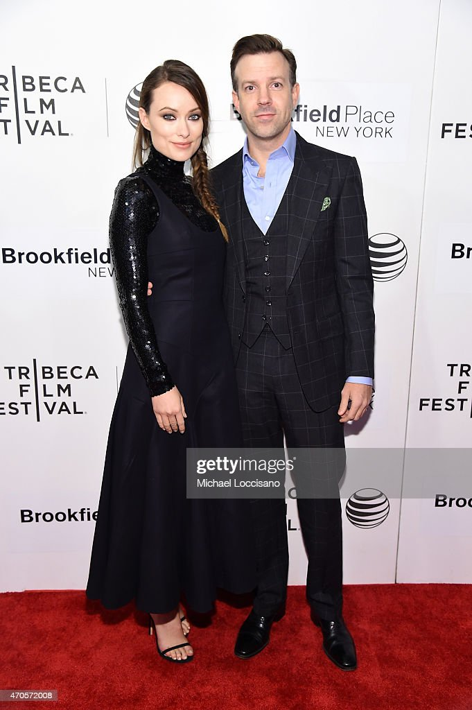 Olivia Wilde and Jason Sudeikis attend the premiere of 'Sleeping With Other People' during the 2015 Tribeca Film Festival at BMCC Tribeca PAC on...