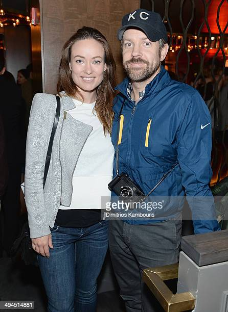 Olivia Wilde and Jason Sudeikis attend the ''Supermensch The Legend Of Shep Gordon' screening at The Wayfarer on May 29 2014 in New York City