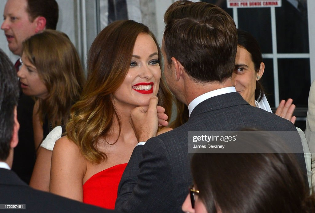 <a gi-track='captionPersonalityLinkClicked' href=/galleries/search?phrase=Olivia+Wilde&family=editorial&specificpeople=235399 ng-click='$event.stopPropagation()'>Olivia Wilde</a> and <a gi-track='captionPersonalityLinkClicked' href=/galleries/search?phrase=Jason+Sudeikis&family=editorial&specificpeople=4232997 ng-click='$event.stopPropagation()'>Jason Sudeikis</a> attend the 'We're The Millers' New York Premiere at Ziegfeld Theater on August 1, 2013 in New York City.