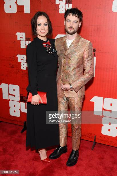 Olivia Wilde and Tom Sturridge attend the '1984' Broadway opening night after party at The Lighthouse at Chelsea Piers on June 22 2017 in New York...