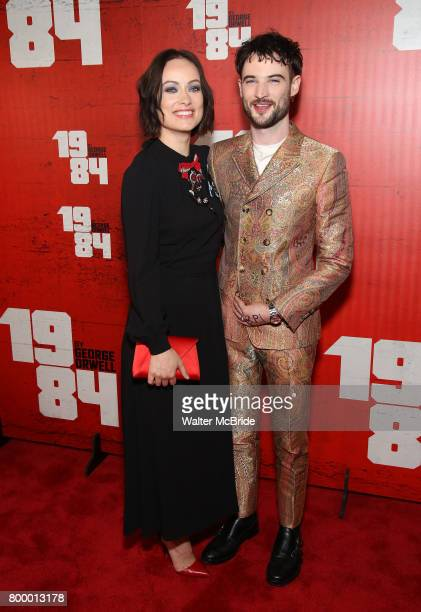 Olivia Wilde and Tom Sturridge attend the Broadway Opening Night Party for George Orwell's '1984' at The Lighthouse Pier 61 on June 22 2017 in New...