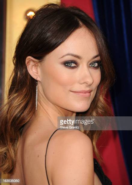Olivia Wilde arrives at the 'The Incredible Burt Wonderstone' Los Angeles Premiere at TCL Chinese Theatre on March 11 2013 in Hollywood California
