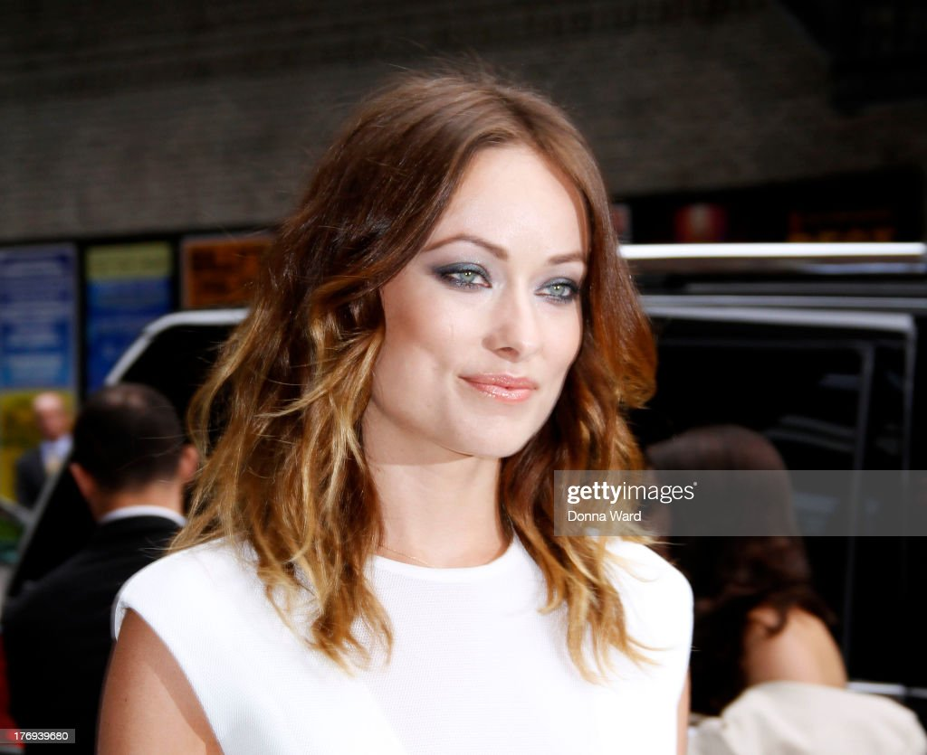 Olivia Wilde arrives for the 'Late Show with David Letterman' at Ed Sullivan Theater on August 19, 2013 in New York City.