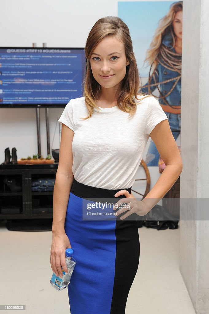 <a gi-track='captionPersonalityLinkClicked' href=/galleries/search?phrase=Olivia+Wilde&family=editorial&specificpeople=235399 ng-click='$event.stopPropagation()'>Olivia Wilde</a> at Guess Portrait Studio on Day 6 during the 2013 Toronto International Film Festival at Bell Lightbox on September 10, 2013 in Toronto, Canada.