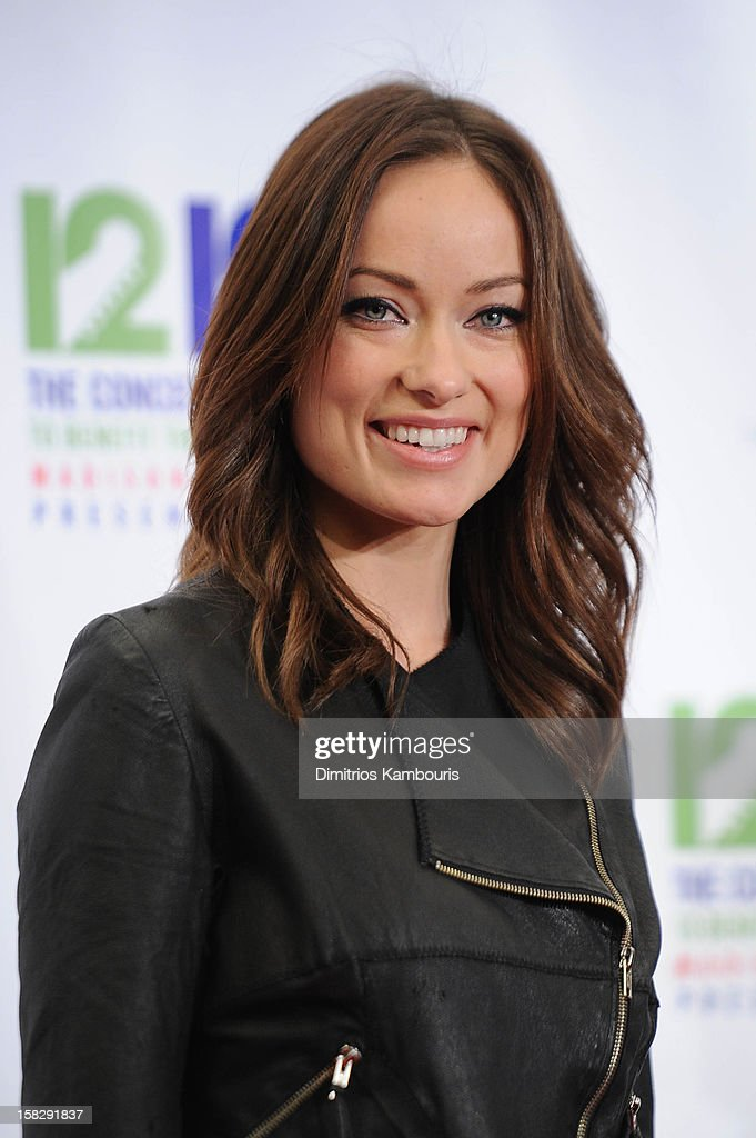 Olivia Wilde attends '12-12-12' a concert benefiting The Robin Hood Relief Fund to aid the victims of Hurricane Sandy presented by Clear Channel Media & Entertainment, The Madison Square Garden Company and The Weinstein Company at Madison Square Garden on December 12, 2012 in New York City.