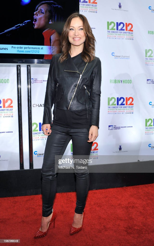 Olivia Wilde attends 12-12-12 the Concert for Sandy Relief at Madison Square Garden on December 12, 2012 in New York City.