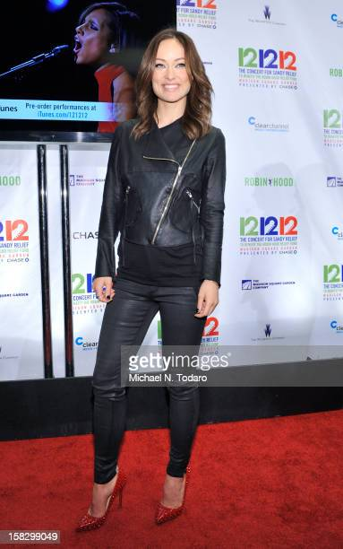 Olivia Wilde attends 121212 the Concert for Sandy Relief at Madison Square Garden on December 12 2012 in New York City