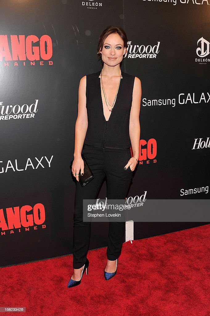 <a gi-track='captionPersonalityLinkClicked' href=/galleries/search?phrase=Olivia+Wilde&family=editorial&specificpeople=235399 ng-click='$event.stopPropagation()'>Olivia Wilde</a> attends a screening of 'Django Unchained' hosted by The Weinstein Company with The Hollywood Reporter, Samsung Galaxy and The Cinema Society at Ziegfeld Theater on December 11, 2012 in New York City.