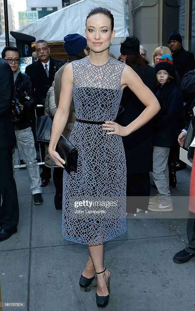 Olivia Wilde attends Calvin Klein Collection during Fall 2013 Mercedes-Benz Fashion Week on February 14, 2013 in New York City.