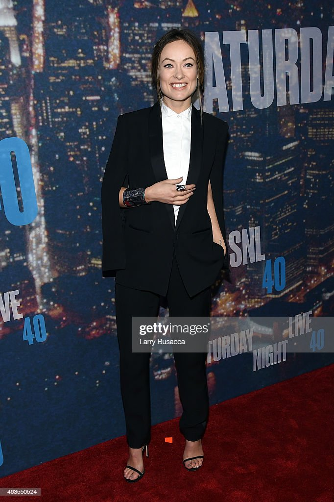 Olivia Wilde attends SNL 40th Anniversary Celebration at Rockefeller Plaza on February 15, 2015 in New York City.