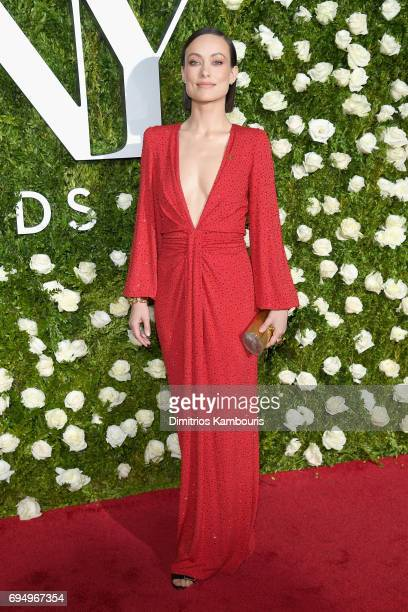 Olivia Wilde attends the 2017 Tony Awards at Radio City Music Hall on June 11 2017 in New York City