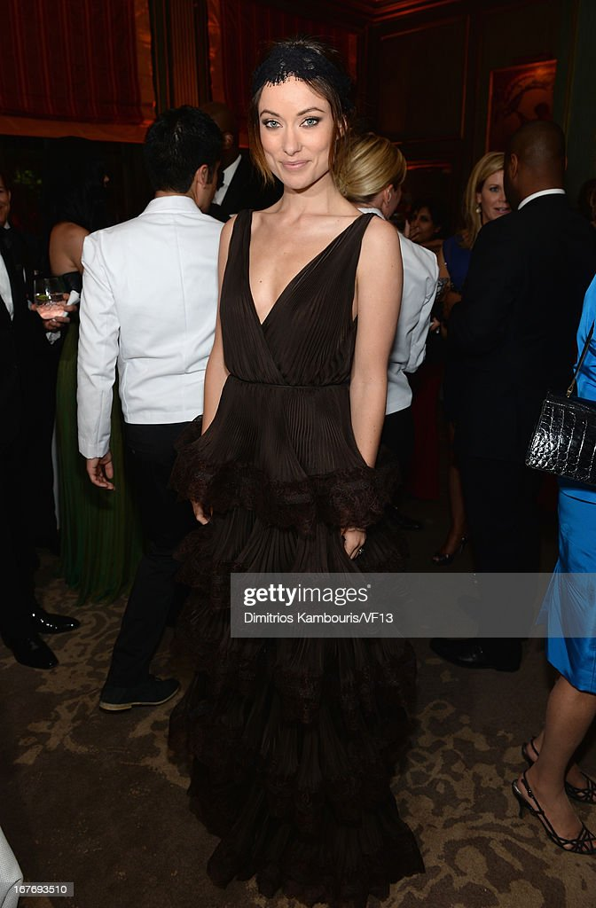 <a gi-track='captionPersonalityLinkClicked' href=/galleries/search?phrase=Olivia+Wilde&family=editorial&specificpeople=235399 ng-click='$event.stopPropagation()'>Olivia Wilde</a> attends the Bloomberg & Vanity Fair cocktail reception following the 2013 WHCA Dinner at the residence of the French Ambassador on April 27, 2013 in Washington, DC.