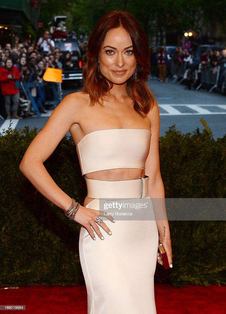 Olivia Wilde attends the Costume Institute Gala for the 'PUNK: Chaos to Couture' exhibition at the Metropolitan Museum of Art on May 6, 2013 in New York City.