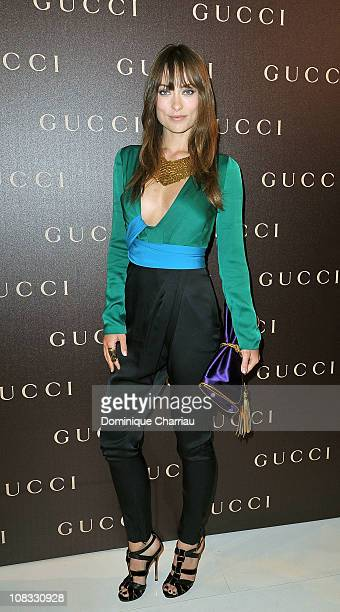 Olivia Wilde attends the Gucci InStore Cocktail as part of Paris Fashion Week Haute Couture Spring/Summer 2011 on January 25 2011 in Paris France