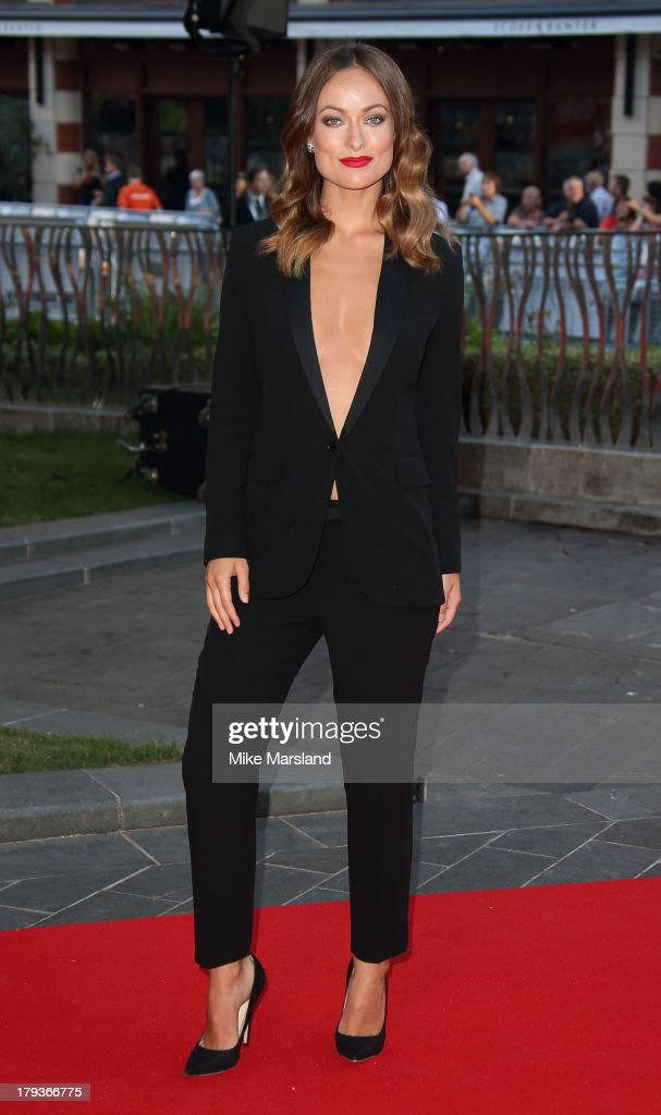 <a gi-track='captionPersonalityLinkClicked' href=/galleries/search?phrase=Olivia+Wilde&family=editorial&specificpeople=235399 ng-click='$event.stopPropagation()'>Olivia Wilde</a> attends the World Premiere of 'Rush' at Odeon Leicester Square on September 2, 2013 in London, England.