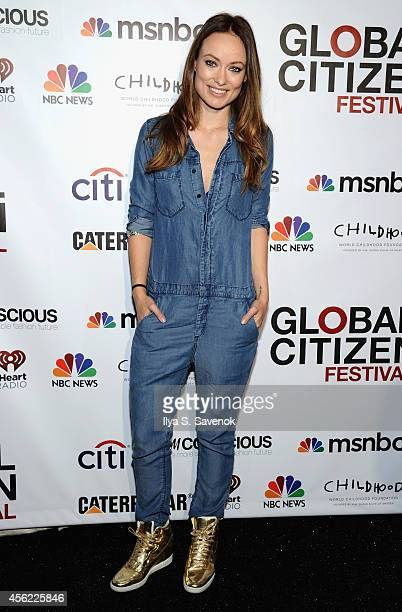 Olivia Wilde attends VIP Lounge at the 2014 Global Citizen Festival to end extreme poverty by 2030 in Central Park on September 27 2014 in New York...