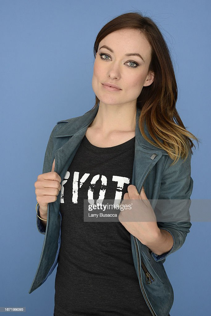 Olivia Wilde, Executive Producer of the film 'The Rider' and the Storm poses at the Tribeca Film Festival 2013 portrait studio on April 22, 2013 in New York City.