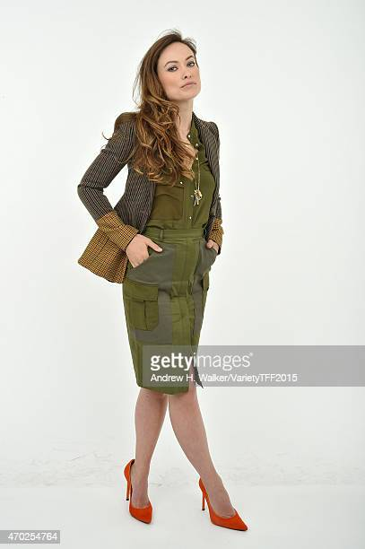 Olivia Wilde from 'Meadowland' appears at the 2015 Tribeca Film Festival Getty Images studio on April 17 2015 in New York City