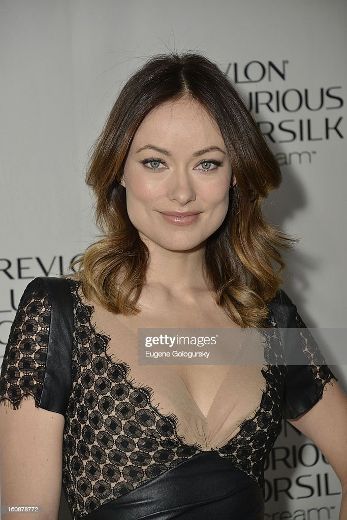 Olivia Wilde hosts the Revlon Luxurious ColorSilk Buttercream launch at The Royalton Hotel on February 7, 2013 in New York City.