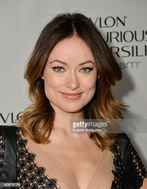 Olivia Wilde hosts the Revlon Luxurious ColorSilk Buttercream launch at The Royalton Hotel on February 7 2013 in New York City